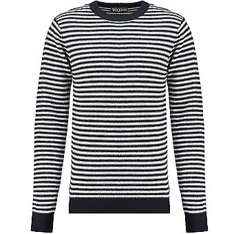 WOLF PAX Boys White And Navy Stripe Jumper