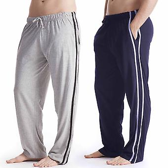 Mens lange Lounge Wear broek pyjama's Bottoms (Pack van 2)