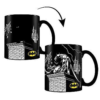 DC Comics Batman ombres effet thermique coupe noir, imprimé, en céramique, capacité env. 320 ml...