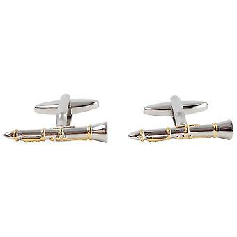 Zennor Claranet Cufflinks - Silver/Gold