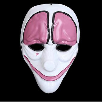 Clown Purge mask masquerade party party halloween-Pink-White
