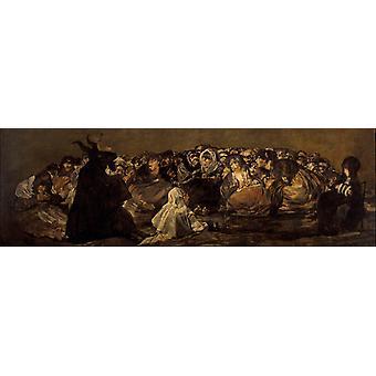 Witches'Sabbath of The, Francisco de goya y Lucientes, 80x40cm