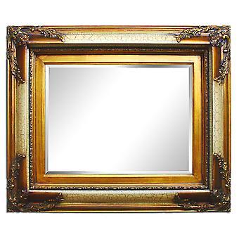 Stort speil i gull, dimensjoner 70 x 80 cm