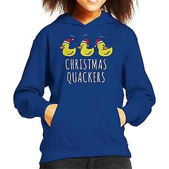 Christmas Quackers Kid's Hooded Sweatshirt