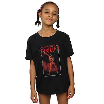 Michael Jackson Girls Thriller Red T-Shirt