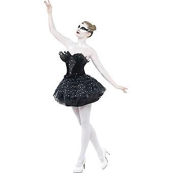 Gotische Swan Masquerade kostuum, UK jurk 8-10