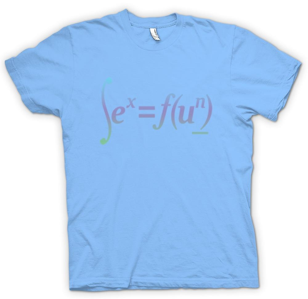 Mens t-shirt-sesso = divertimento - Design Formula matematica