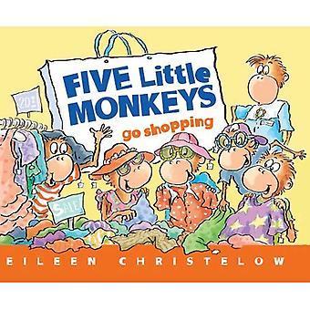 Pięciu małe małpy iść na zakupy