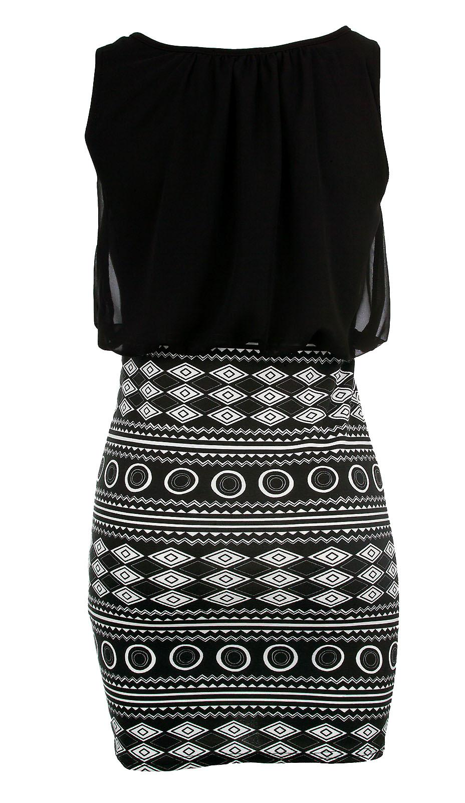 Waooh - Dress short geometric Ente