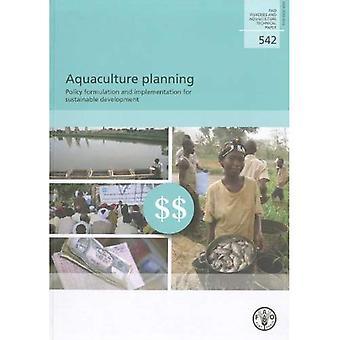 Planning van de aquacultuur
