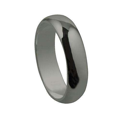 18ct White Gold 6mm plain D shaped Wedding Ring