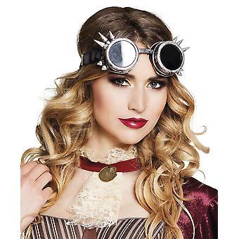 Adults Steampunk Glasses - Silver Fancy Dress Accessory