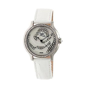Sophie & Freda Monaco MOP Swiss Ladies Watch - Silver/White