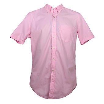 GANT Long Beach hombre Regular Fit corto manga camisa popelin - rosa