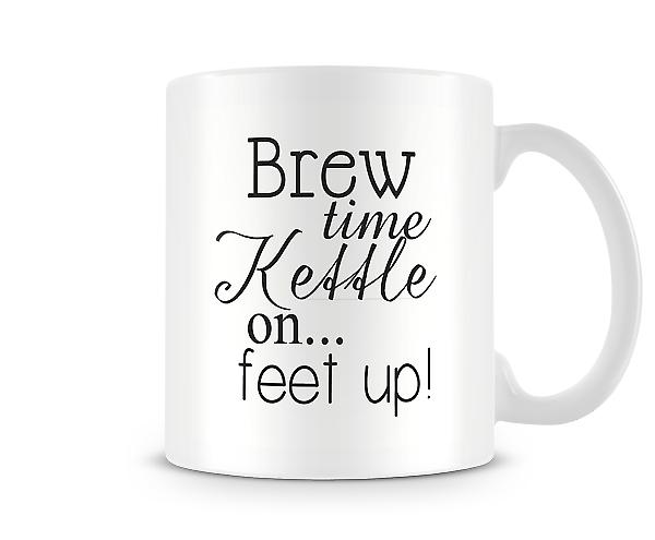Brew Time Kettle On Feet Up! Mug