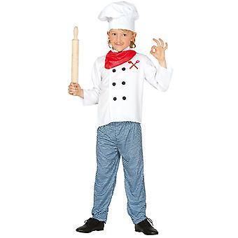 Childrens Chef kok Fancy Dress kostuum