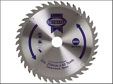 Faithfull Circular Saw Blade TCT 230 x 30mm x 40T Fine Cross Cut
