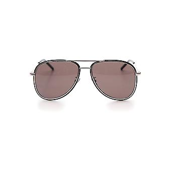 Saint Laurent Silver Acetate Sunglasses