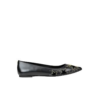 Michael Kors Black Leather Flats