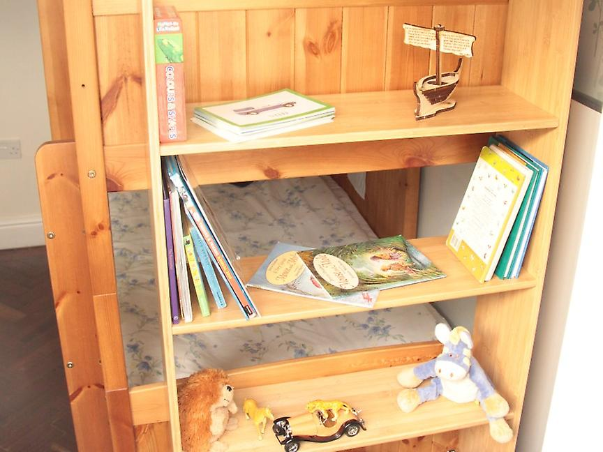 Woodquail Bamboo Bunk Bed Clip On Shelf 4 Tiers Kids Bedroom
