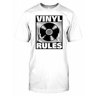 Règles de vinyle - noir et blanc Mens T-shirt