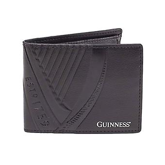 Guinness Wallet Embossed classic Logo new Official Black Bifold