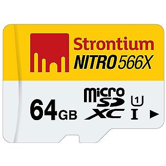 64 GB Micro geheugen card SD micro SDXC kaart Nitro 566 X strontium vrije accessoires