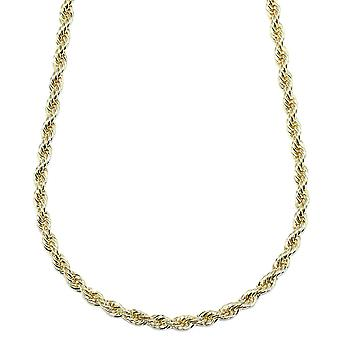 Gold Plated Rope Chain, Dookie Chain FILLED 5mm X 24 Inches
