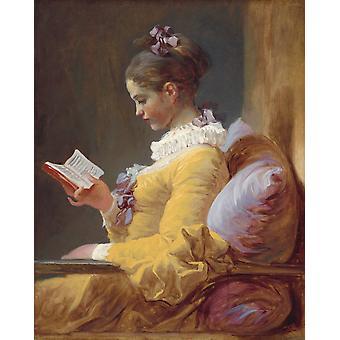 A Young Girl Geading, Jean Honore Fragonard, 50x40cm