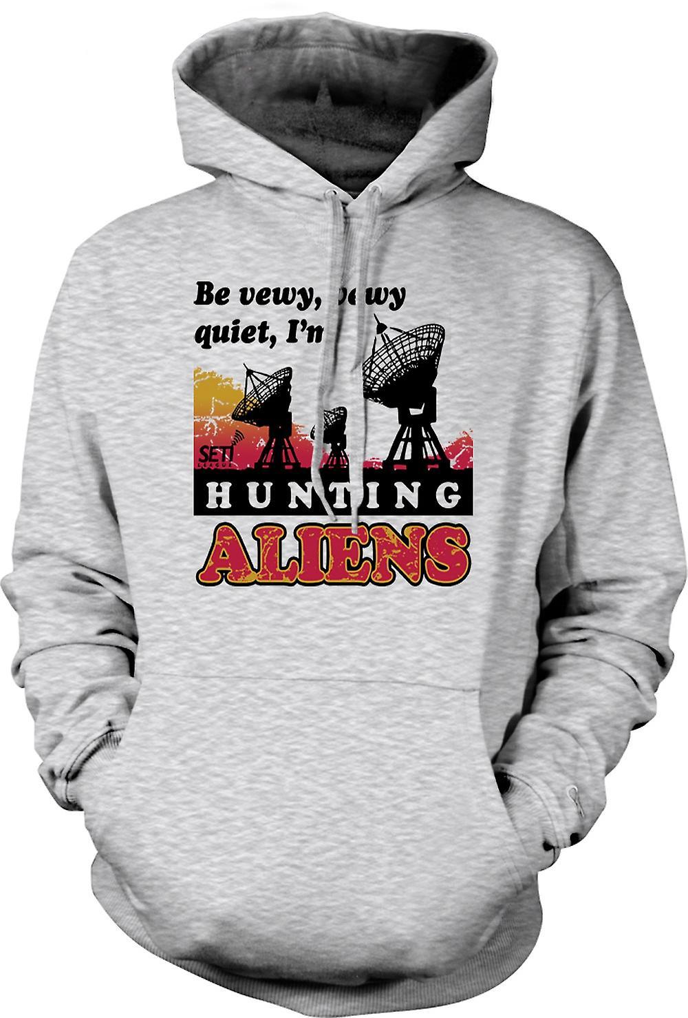 Mens Hoodie - SETI - UFO - Alien Hunters - Astronomy