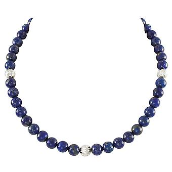 Colección Eterna Debutante Lapis Lazuli Semi Precioso Collar de Tono plata con cuentas