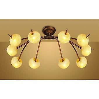 Wave Ceiling 10 Light G9, Rustic Gold