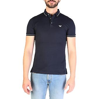 Emporio Armani Men Blue Polo -- 3G1F622064