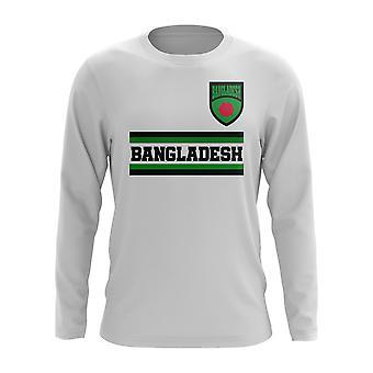 Bangladesh Core fotboll Country långärmad T-shirt (vit)