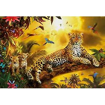 Educa Borras Jigsaw Puzzle - Leopard And His Cubs - 500 Pieces