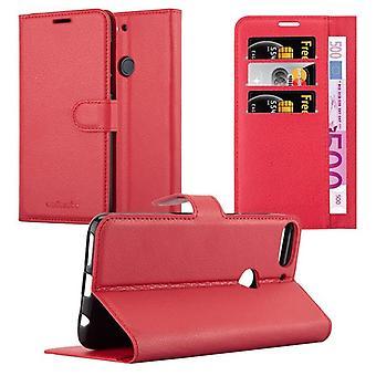 Cadorabo Hülle für HTC Desire 12 PLUS Case Cover - Handyhülle mit Magnetverschluss, Standfunktion und Kartenfach – Case Cover Schutzhülle Etui Tasche Book Klapp Style