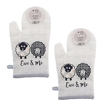 Country Club Ewe and Me Oven Mitt Set of 2