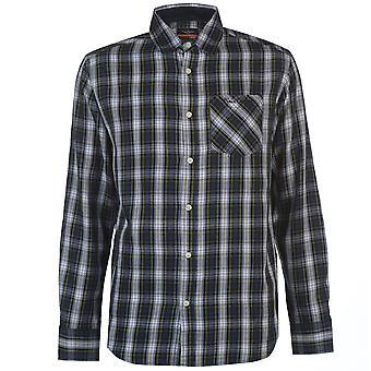 Pierre Cardin Mens Tartan Check Long Sleeve Shirt Casual Top Button Regular