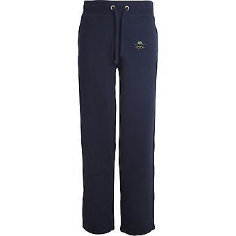 17ème 21st Lancers - Licensed British Army Embroidered Open Hem Sweatpants / Jogging Bottoms