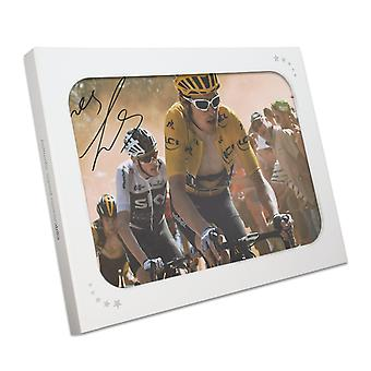 Geraint Thomas Signed Tour De France Photo: Dutch Corner In Gift Box