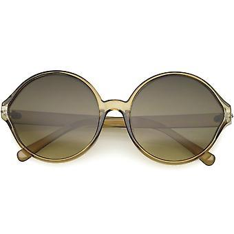 Large Translucent Womens Fashion Oversized Circle Round Sunglasses 60mm