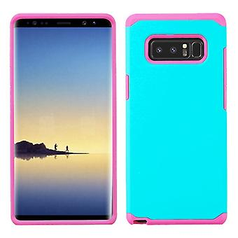 ASMYNA Teal Green/Hot Pink Astronoot Phone Protector Cover  for Galaxy Note 8