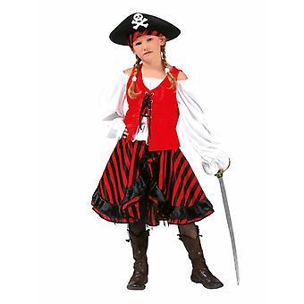 Pirate Children's Costume Sailor Bride Piratessa Pirate Dress Girl Costume Kids Carnival