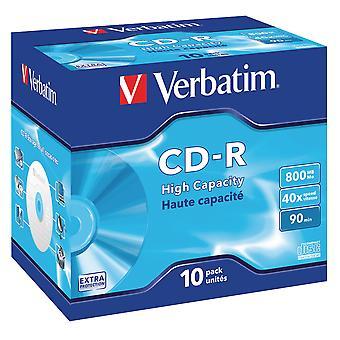Verbatim 43428 800MB DataLife CD-R - Juwel verrohrten 10er-Pack