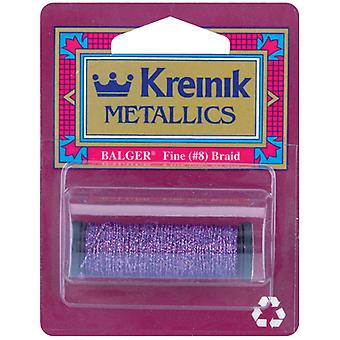 Kreinik amende Metallic Braid #8 10 mètres 11 verges pourpre F 012