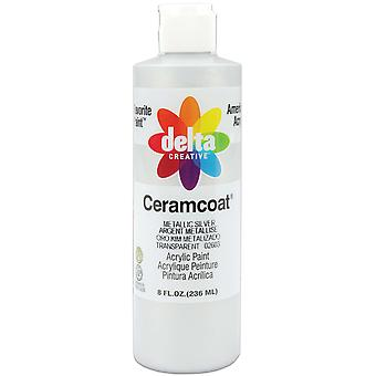 Ceramcoat Acrylic Metallic Paint 8 Ounces Metallic Silver Transparent 2800M 2603