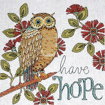 Heartfelt Have Hope Owl Counted Cross Stitch Kit 10