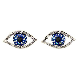 Butler and Wilson Crystal Eye Stud Earrings