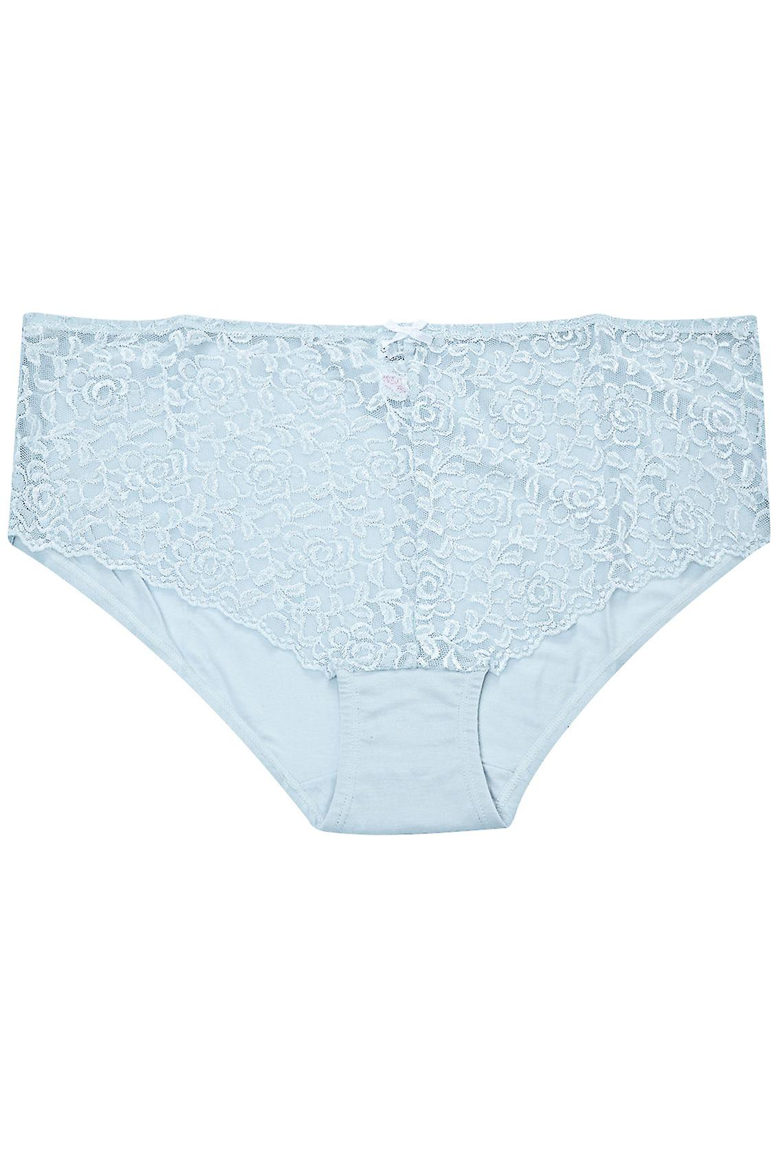 Light Blue Lace Front Brief