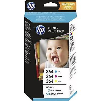 HP Ink 364 Photo Value Pack Original Set Cyan, Magenta, Yellow T9D88EE
